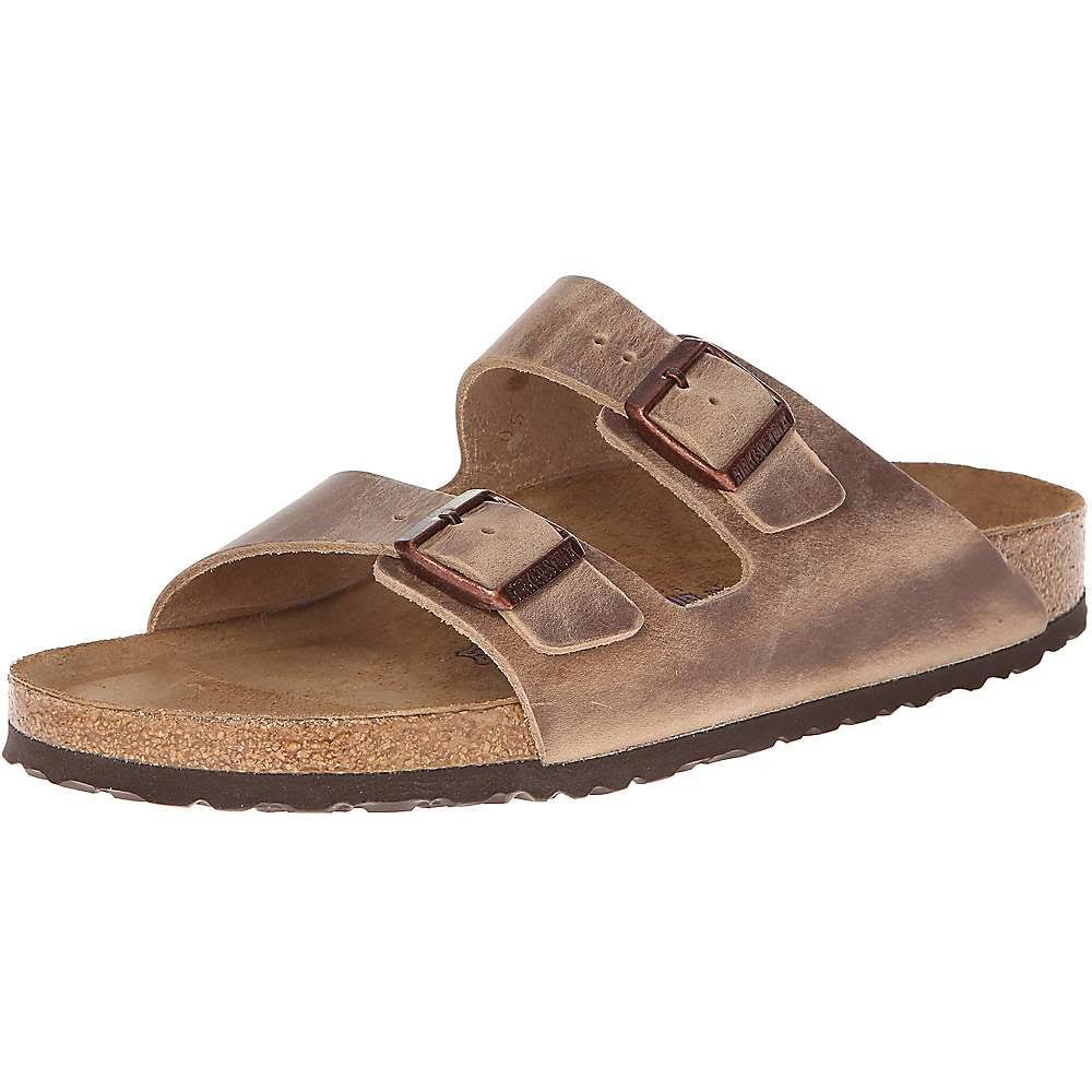 Birkenstock Arizona Soft Footbed Leather Sandals - Tobacco, 42 EU