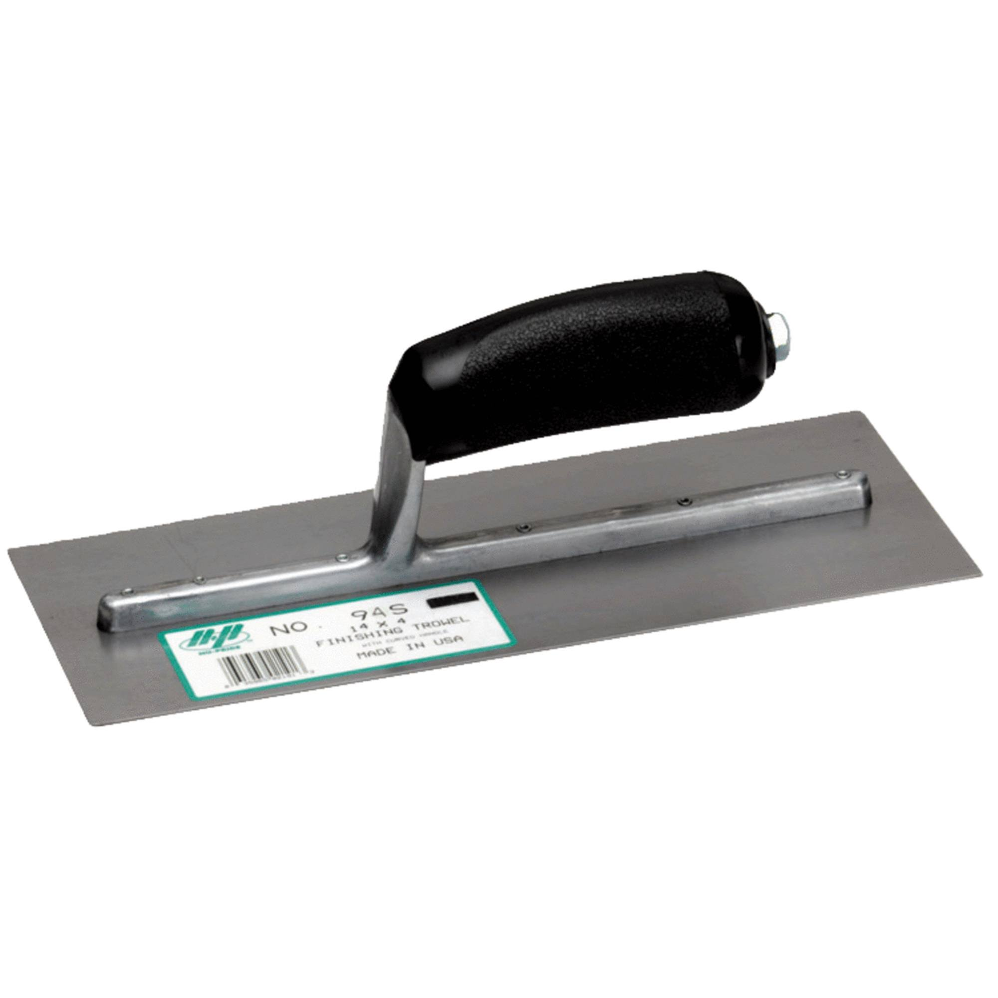 "Marshalltown 94S Finishing Trowel with Curved Handle - 14"" x 4"""
