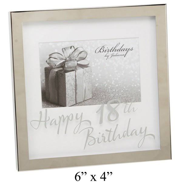 ukgiftstoreonline Happy 18th Birthday 6 x 4 Photo Frame