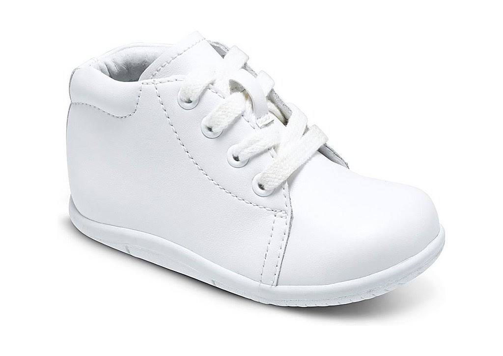 Stride Rite Baby Boys Elliot Leather Shoes - White, Size 3