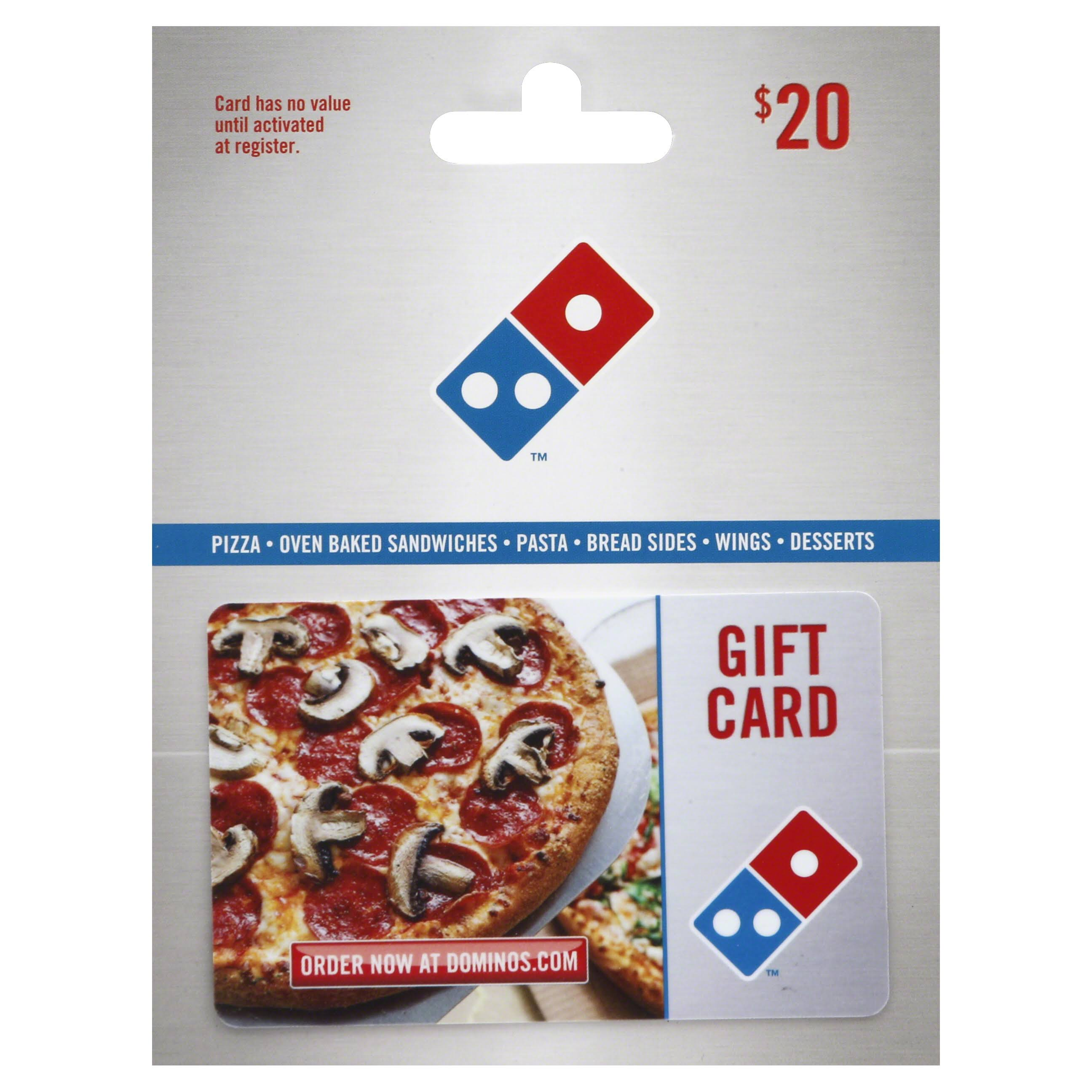 Dominos Gift Card,