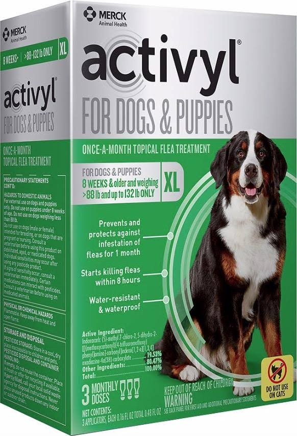 Activyl for Dogs & Supplies Once-A-Month Flea Treatment - 3 Doses