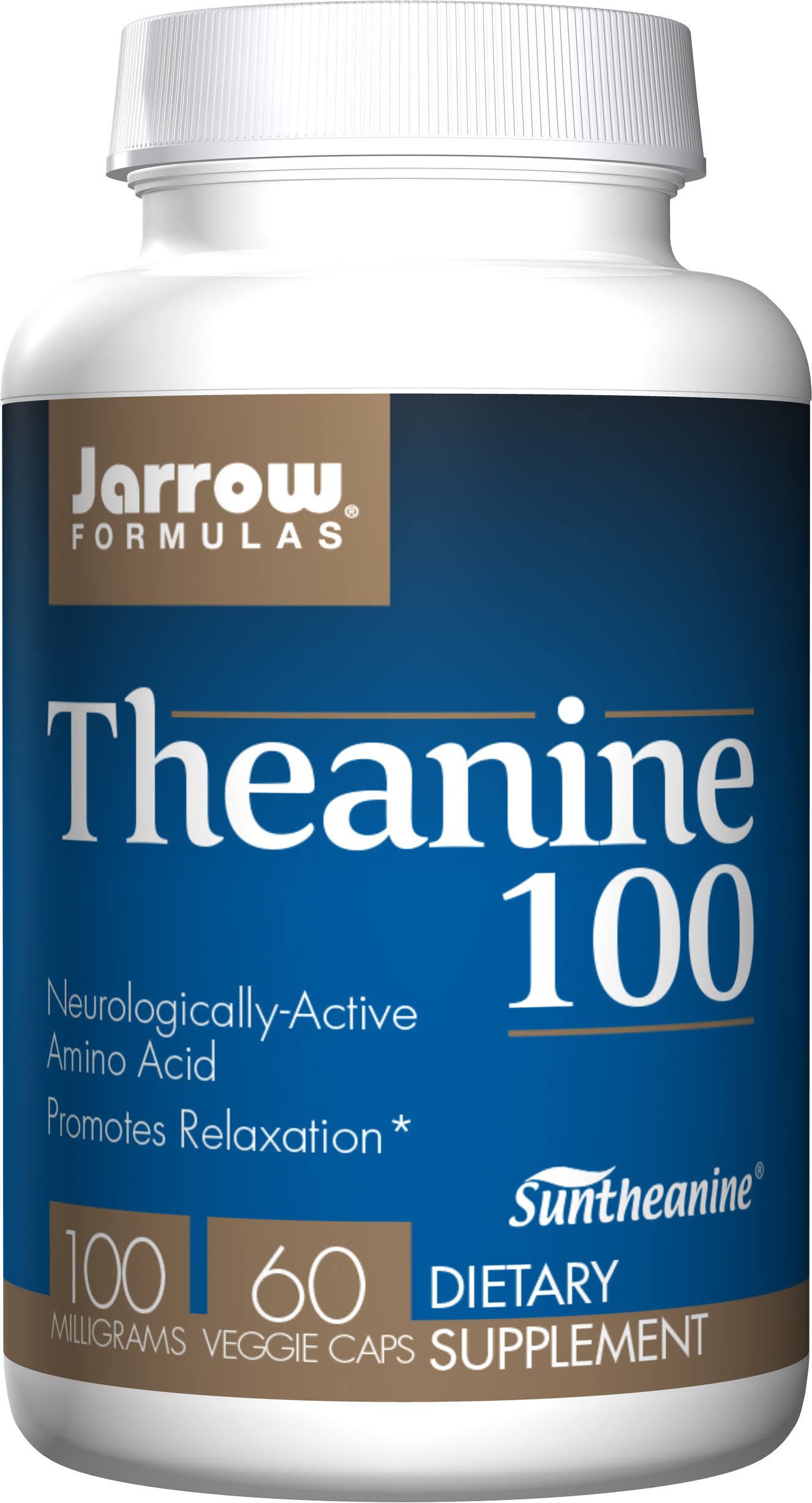 Jarrow Formulas Theanine 100mg Supplement - 60 Capsules