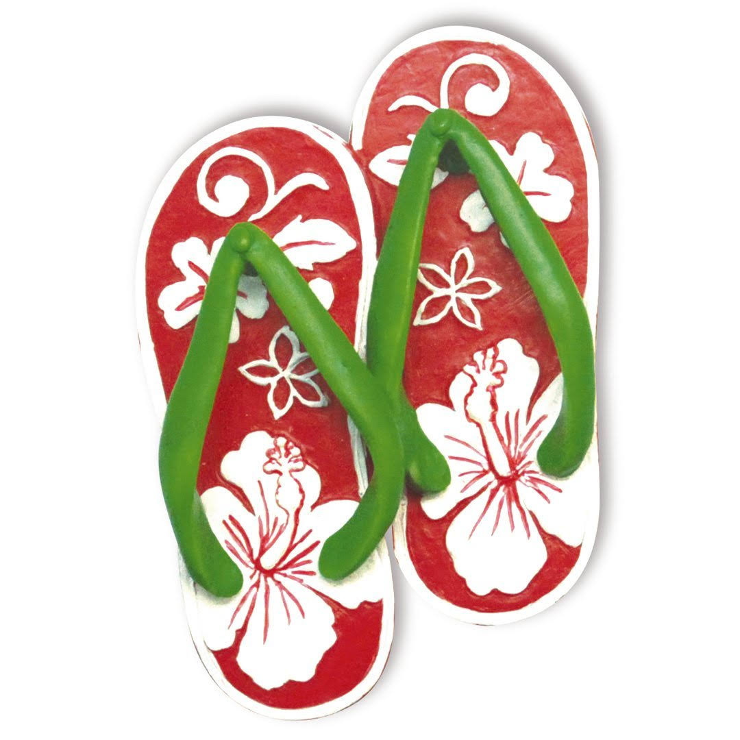 Hibiscus Slippers Christmas Ornament