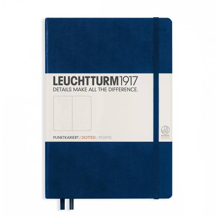 Leuchtturm 1917 Notebook Medium A5 Dotted - Navy, Hardcover