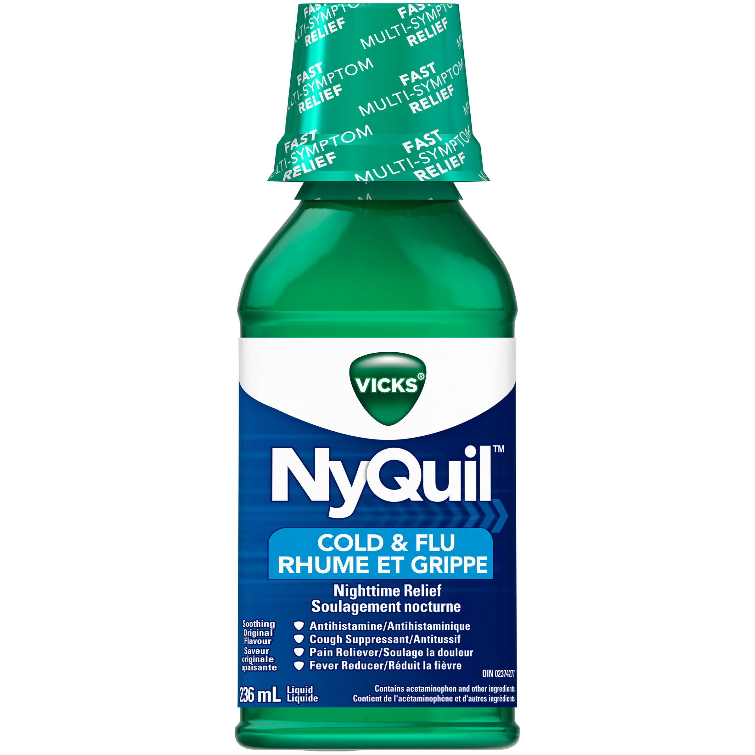 Nyquil Cold and Flu Nighttime Relief - 236ml, Original