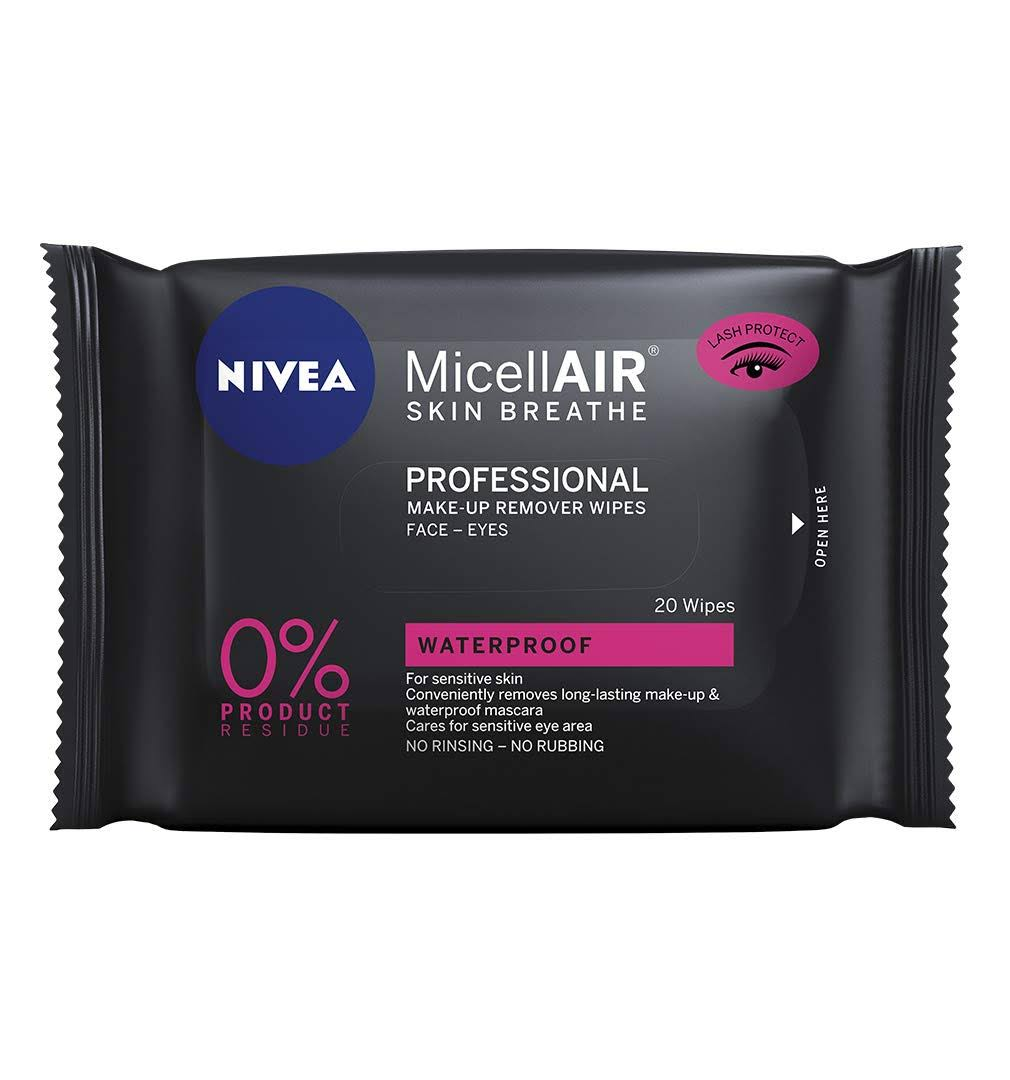 Nivea MicellAIR Professional Make-up Remover Micellar Wipes - 20 Wipes