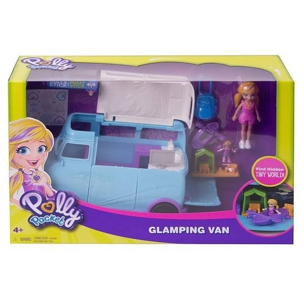 Polly Pocket Glamping Van And Doll Playset