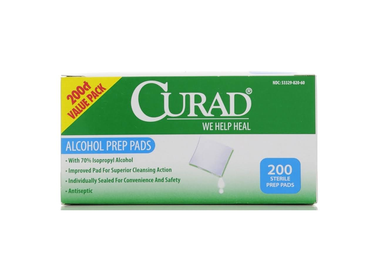 Curad Alcohol Swabs Antiseptic Wipes - 200ct