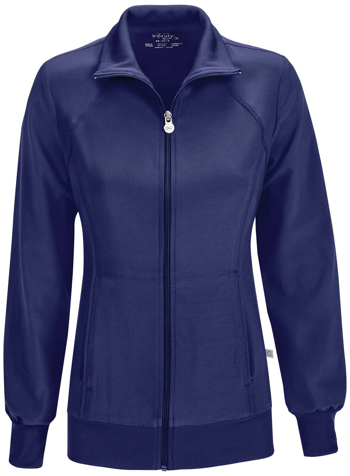 Cherokee Zip Front Warm Up Jacket - Navy, X-Large