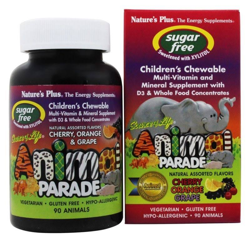 Nature's Plus - Source of Life Animal Parade Sugar-Free Assorted 90 Chewable