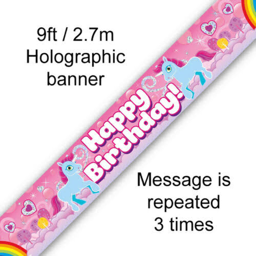 Unicorn Rainbow Birthday Banner