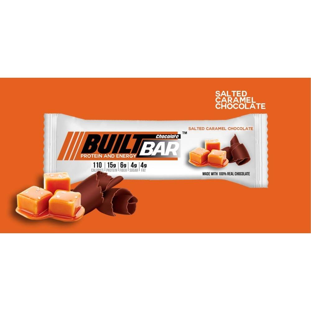 Built Protein and Energy Bar, Salted Caramel Chocolate, 18 Bars
