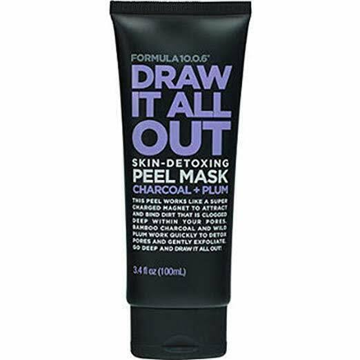 Formula10.0.6 Draw It All Out Skin-Detoxing Peel Mask - Charcoal and Plum, 3.4oz