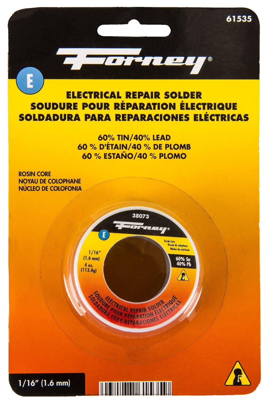 Forney 61535 Rosin Solder - 1.6mm