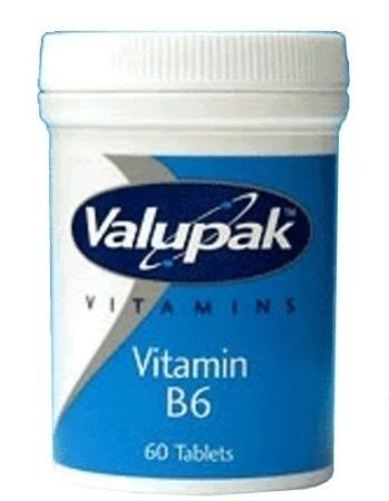 Valupak Vitamins Vitamin B6 10mg - 60 Tablets