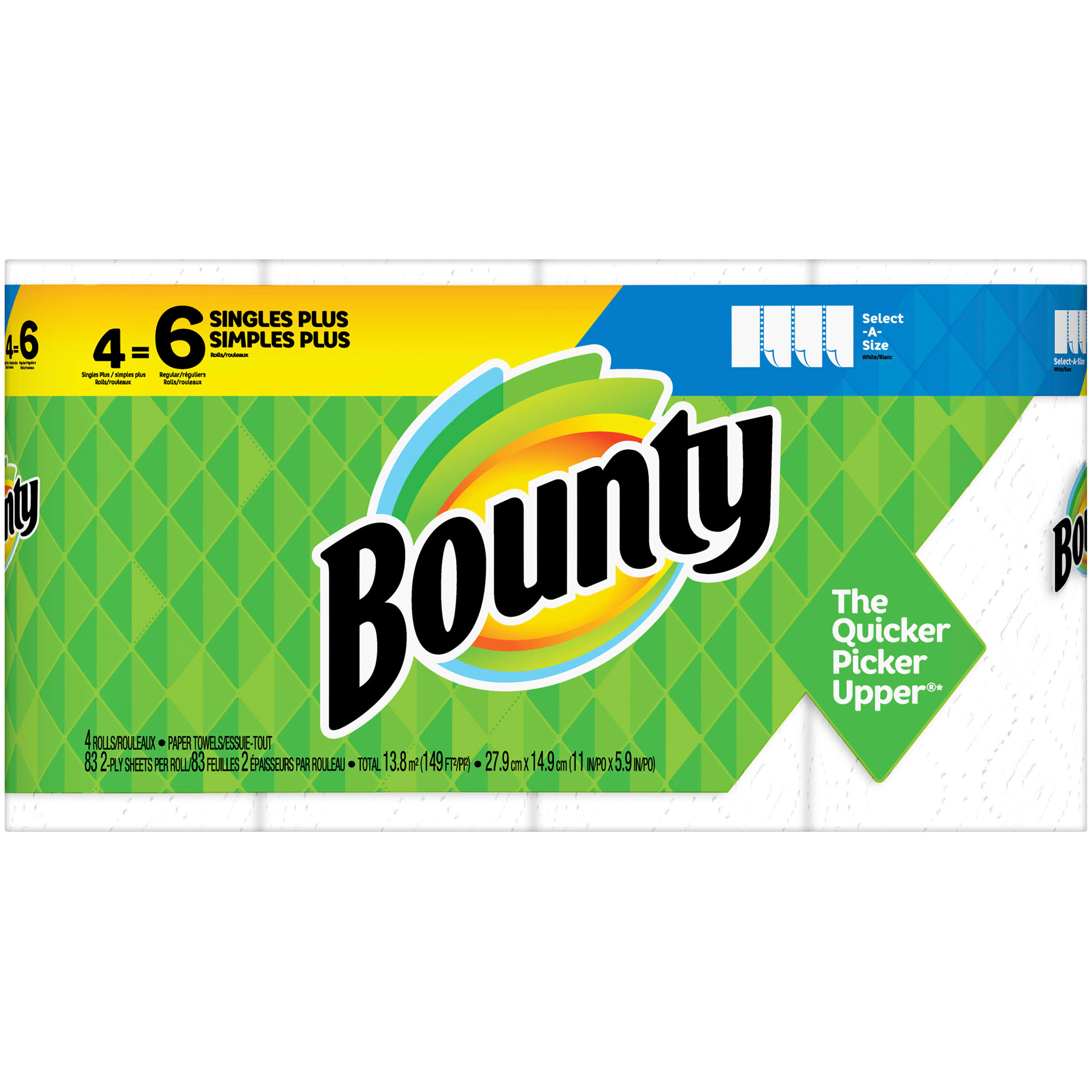 Bounty Select-a-Size Giant Roll Paper Towel - 4pk