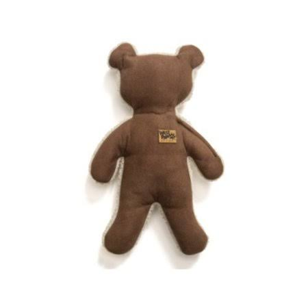 West Paw Big Sky Teddy Dog Toy, Coffee Bean, Large