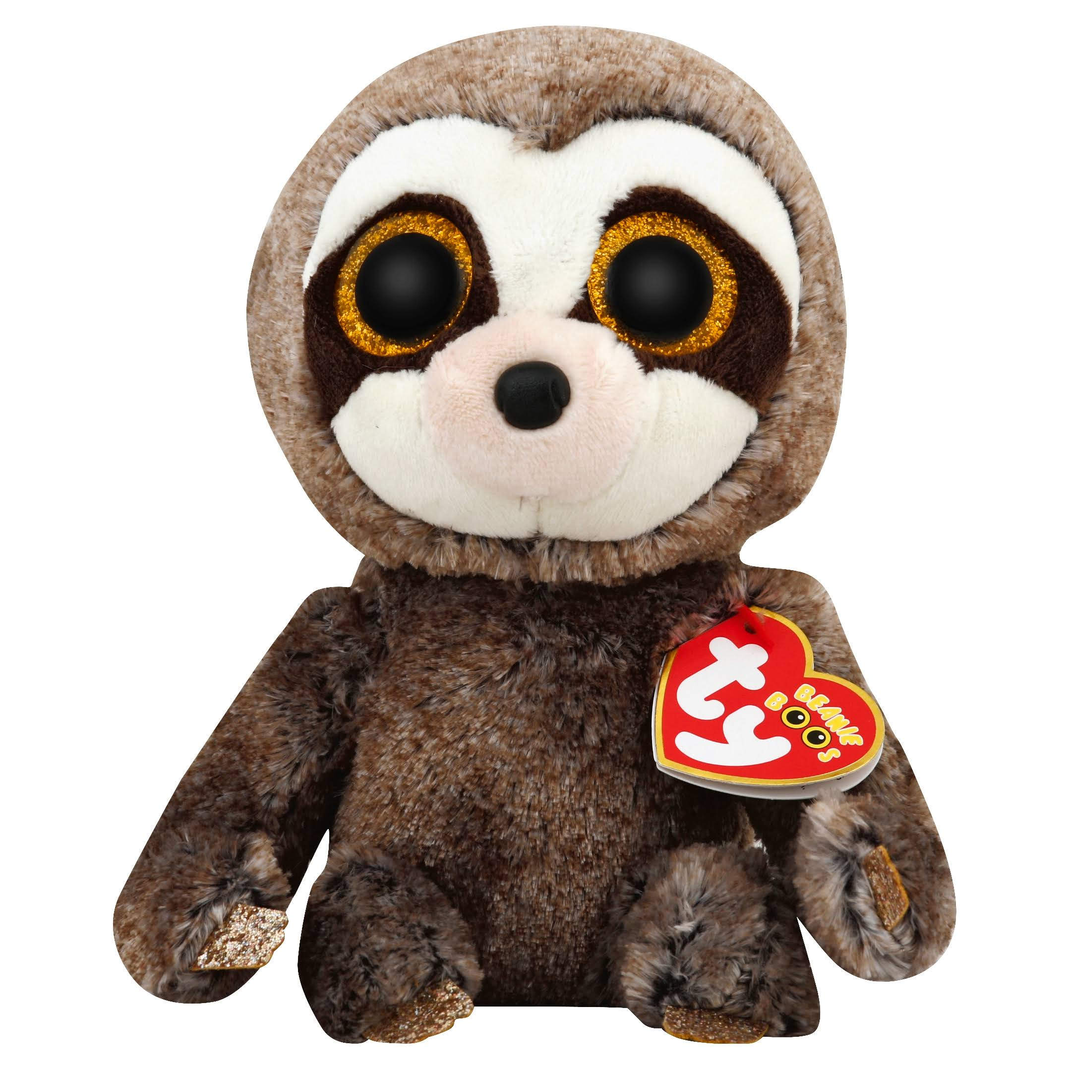 TY Beanie Boo Sloth Plush Toy - Dangler, 15cm