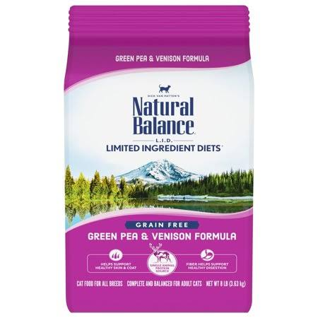 Natural Balance Limited Ingredient Diets Dry Cat Food - Green Pea & Venison Formula, 8lb