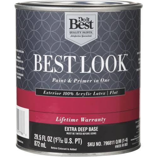 Best Look 100% Acrylic Latex Paint & Primer in One Flat Exterior House Paint