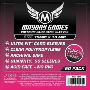Mayday Games 7134 Clear Small Square Premium Card Sleeves