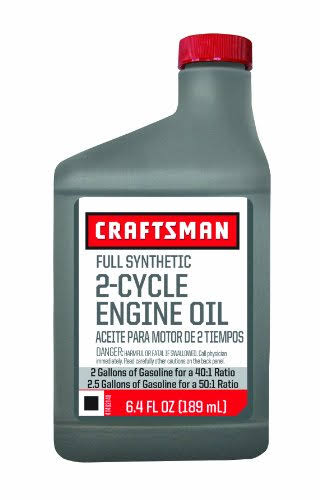 Craftsman Full Synthetic 2-Cycle Engine Oil - 6.4oz