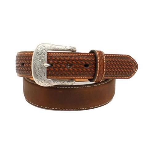 Ariat Men's Distressed Basket Weave Belt - 36