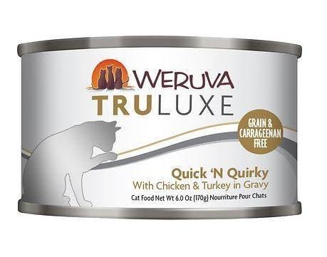Weruva Truluxe Quick N Quirky Cat Food - with Chicken and Turkey in Gravy, 6oz