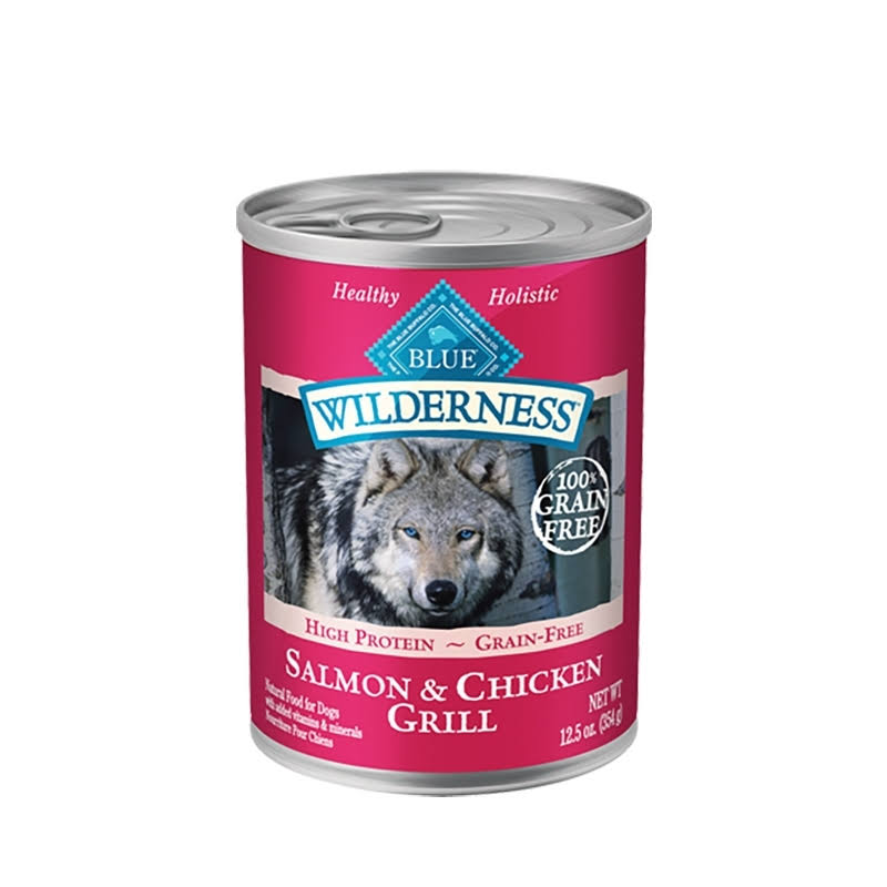 Blue Wilderness Dog Food - Salmon & Chicken Grill, 12.5oz