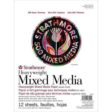"Strathmore 500 Series Heavyweight Mixed Media 9"" x 12"" Pad"