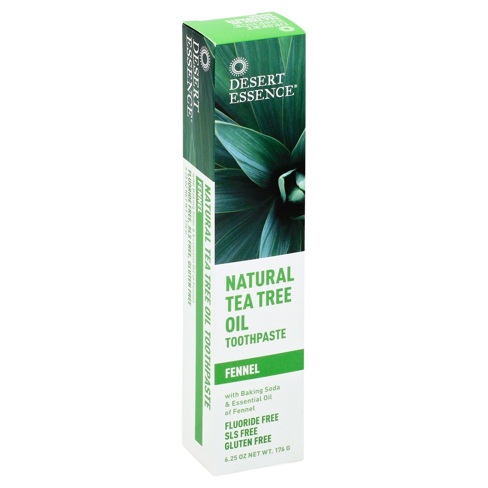 Desert Essence Natural Tea Tree Oil Toothpaste - 185ml