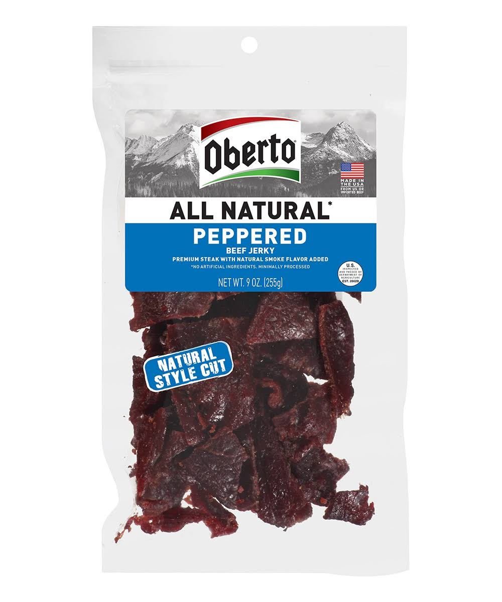 Oberto All Natural Peppered Beef Jerky - 9oz