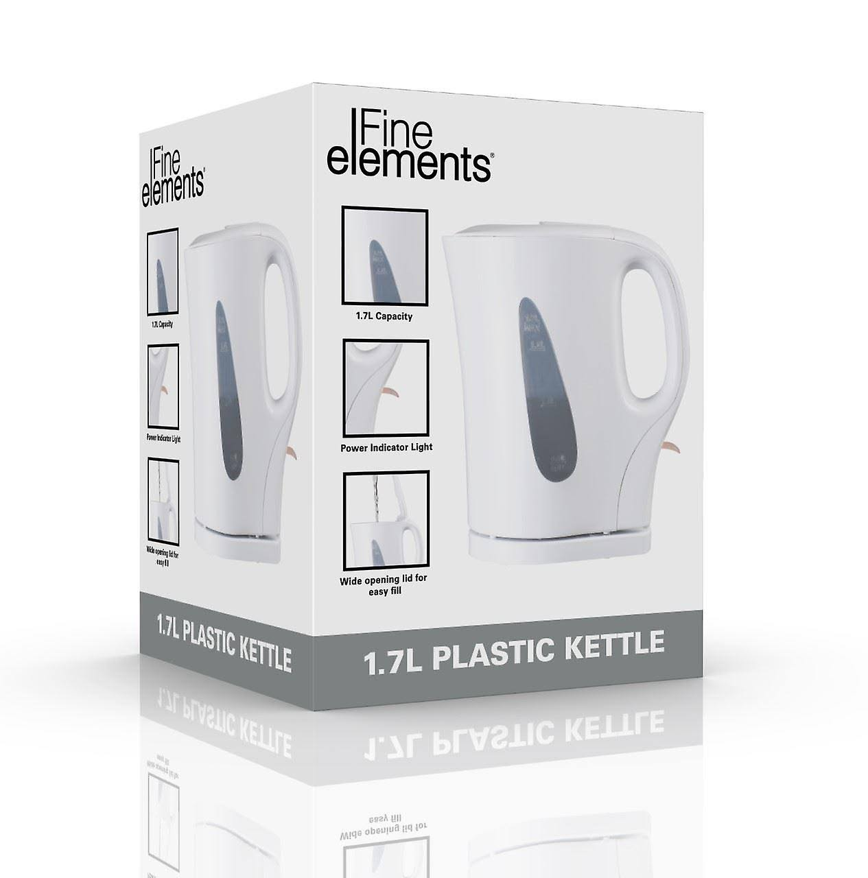 Fine Elements SDA1567 Kettle, Plastic, Modern Design