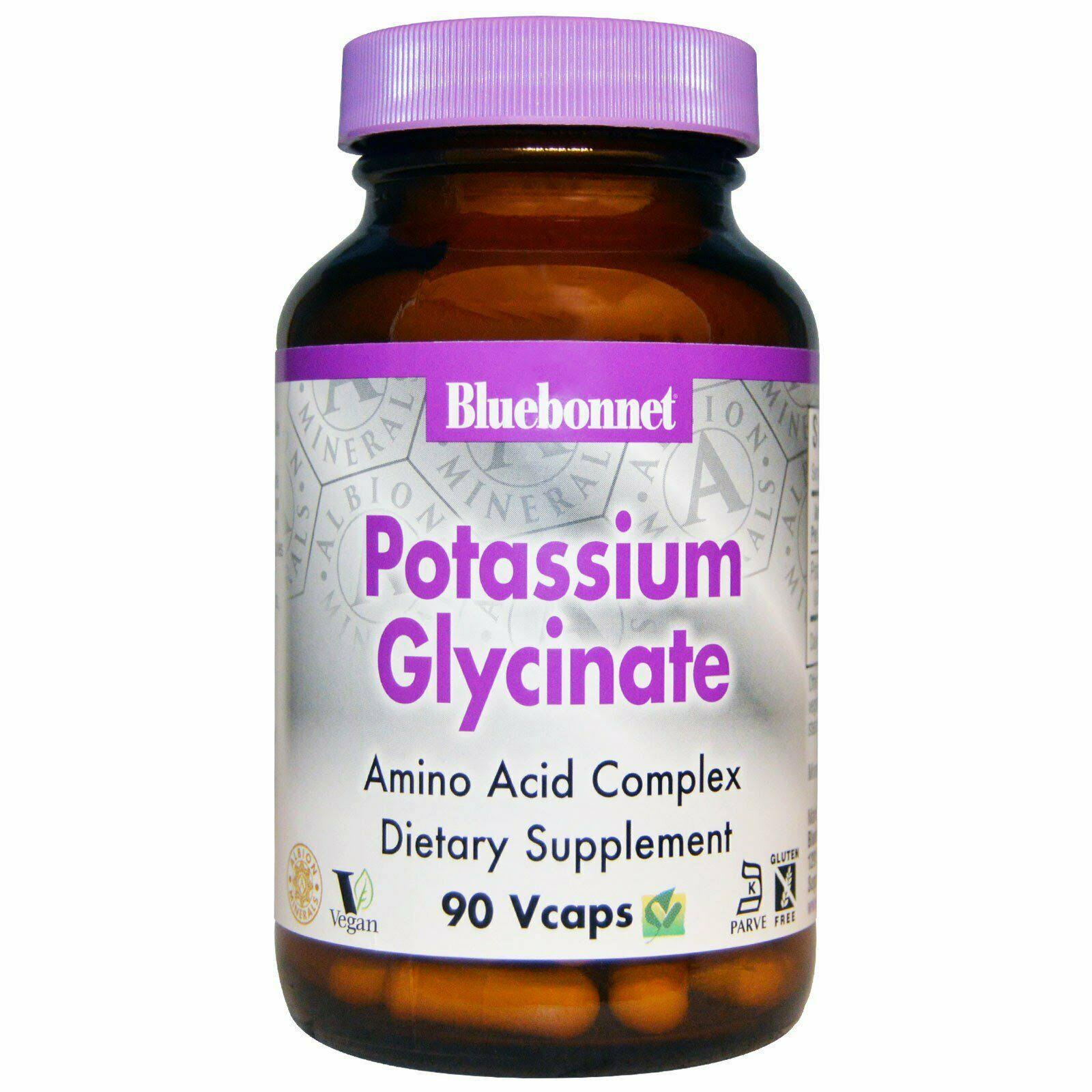 Bluebonnet Nutrition Albion Potassium Glycinate 99mg - 90 Capsules