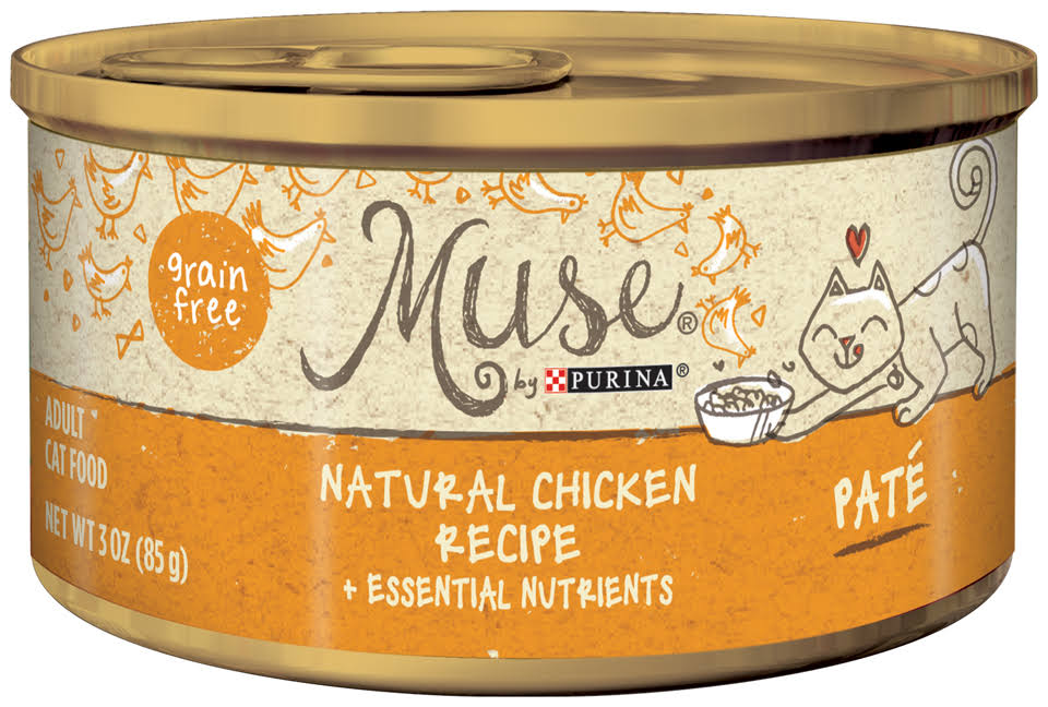 Muse Natural Cat Food Pate - Chicken, 3oz, 24ct