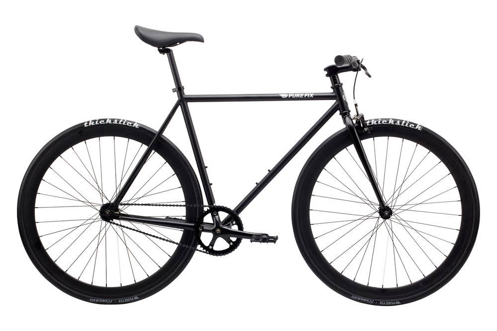 Pure Fix Original Fixed Gear Single Speed Bicycle - Juliet Matte Black, 58cm