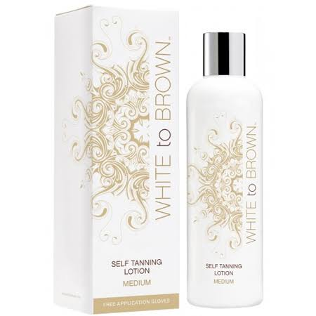 White to Brown Self Tanning Lotion, Medium, 250 ml