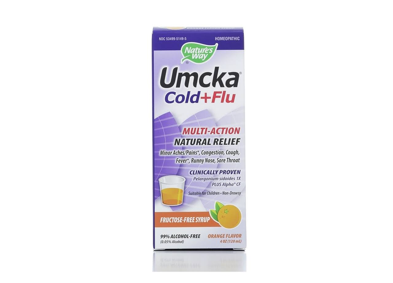 Nature's Way Umcka Cold & Flu Syrup - Orange