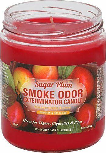 Smoke Odor Exterminator Jar Candle - Sugar Plum, 13oz