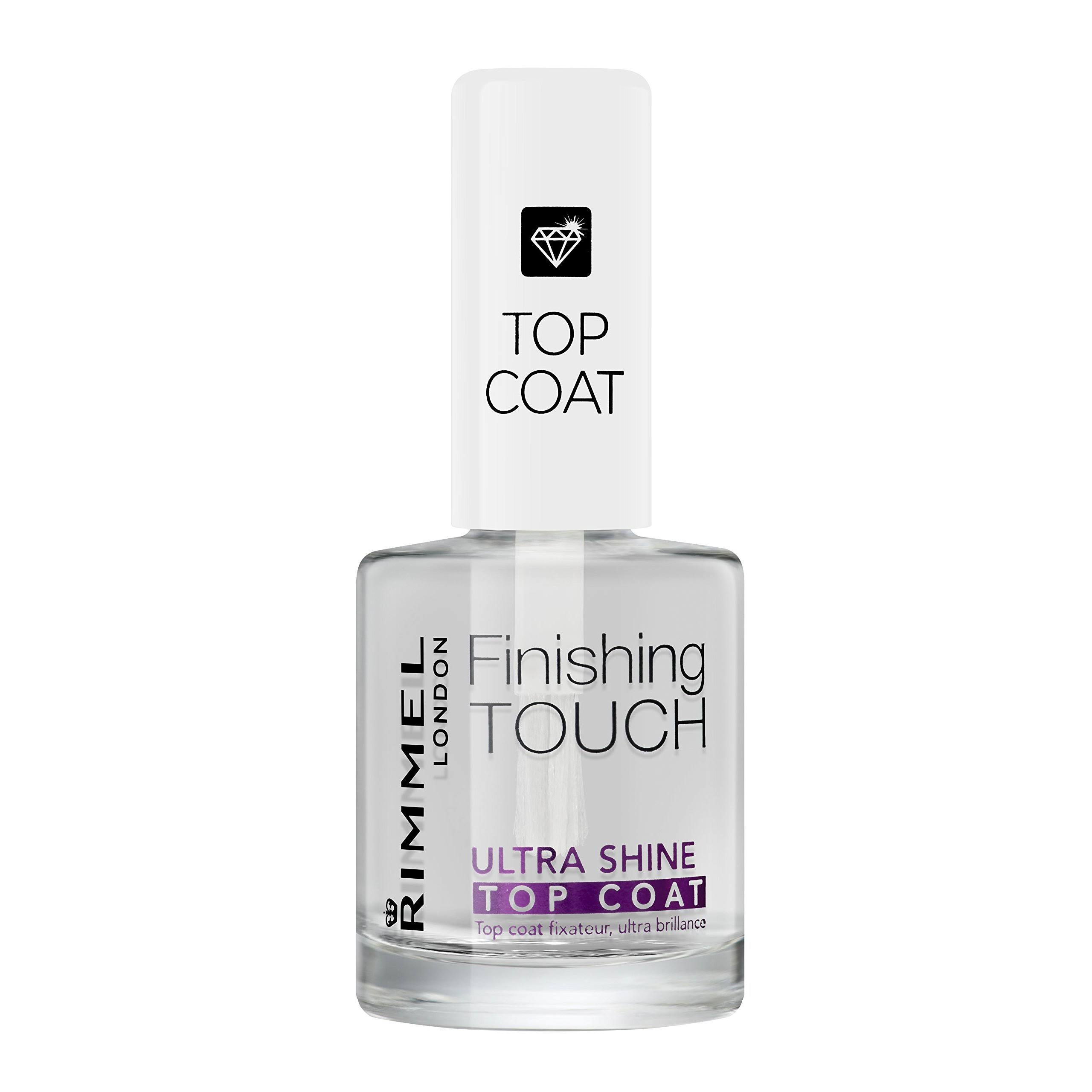Rimmel London Finishing Touch Ultra Shine Top Coat Nail Polish - Clear, 12ml