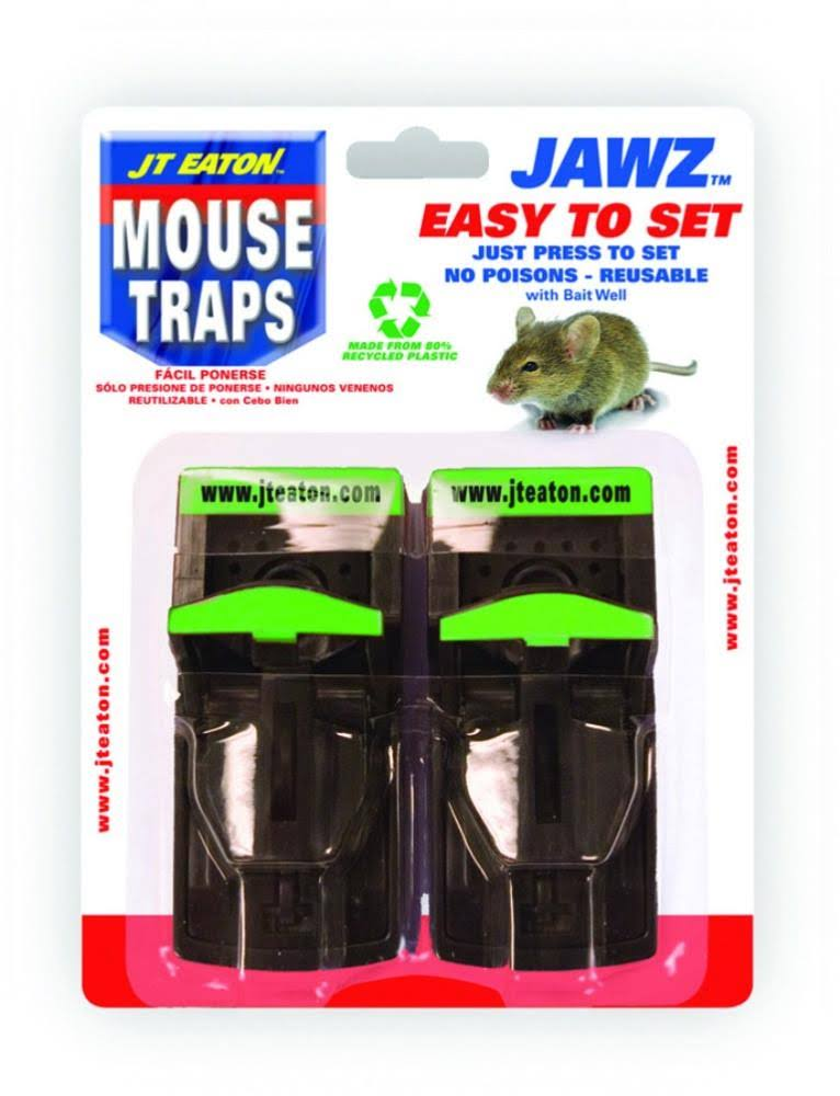 J. T. Eaton Jawz Easy To Set Mouse Trap - 2 pack