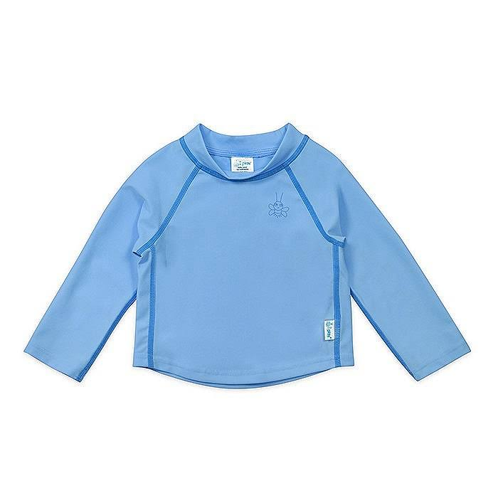 I Play - Long Sleeve Rashguard - 3T - Light Blue
