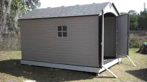 Rubbermaid Large Storage Shed Instructions by Great Lifetime 8 X 10 Outdoor Storage Shed 34 For Your Lowes