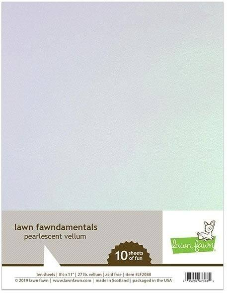 Pearlescent Vellum, Lawn Fawn Specialty Paper