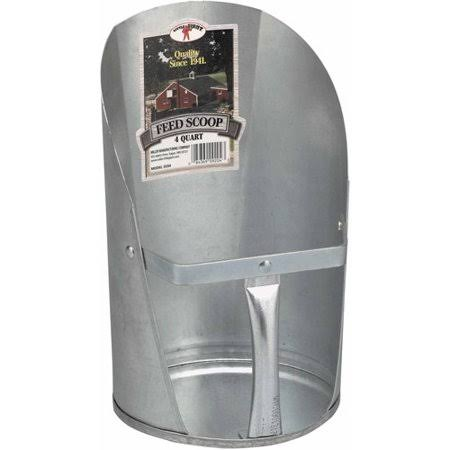 Little Giant Miller Manufacturing 9204 Galvanized Feed Scoop - 4 Quart