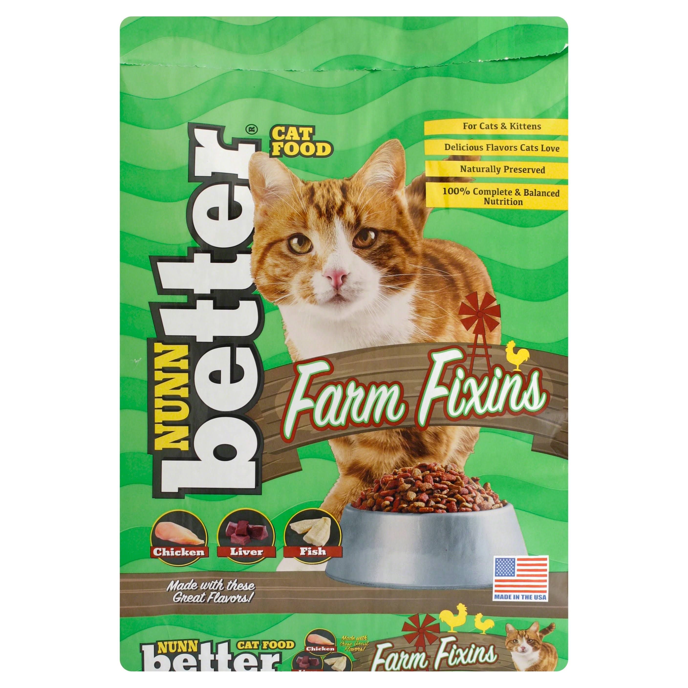 Nunn Better Cat Food, Farm Fixins - 13 lb