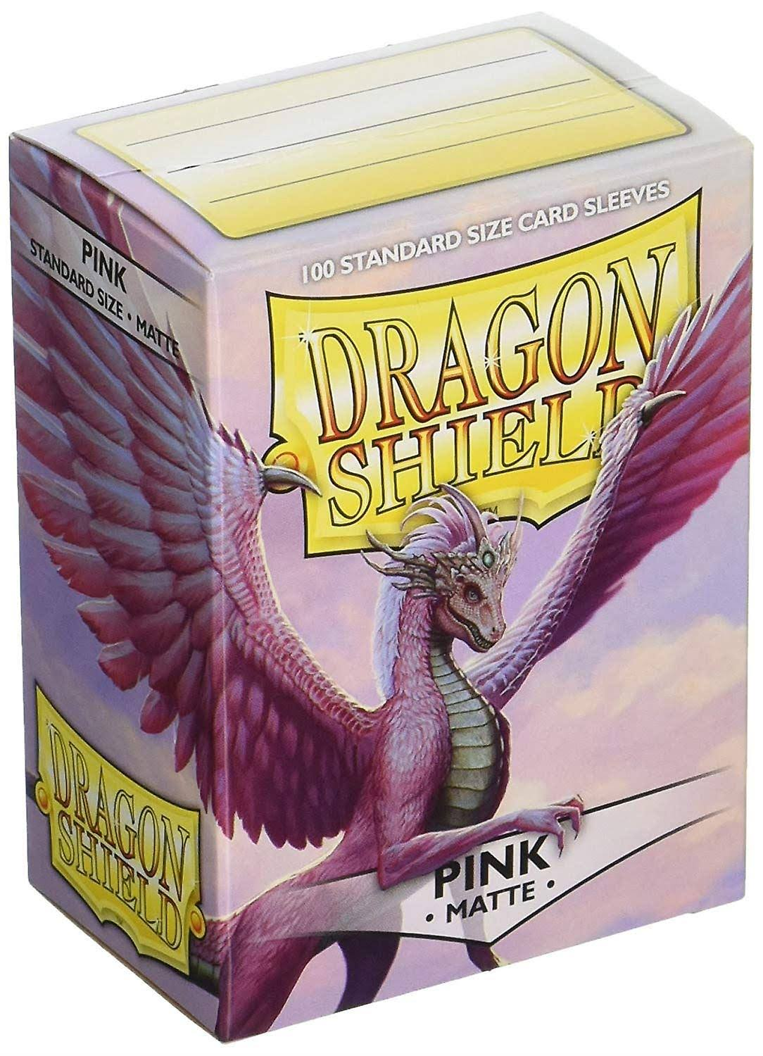 Dragon Shield Standard Sleeves - 100 Sleeves, Matte Pink