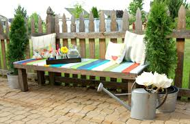Build Outdoor Storage Bench by How To Build A Colorful Garden Bench Using Pallets