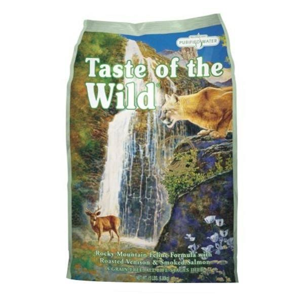 Taste of the Wild Rocky Mountain Feline Formula Cat Food - Roasted Venison and Smoke Salmon